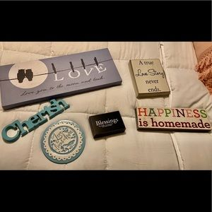 6 decorative signs wall decor for the home